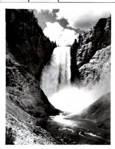 Haynes 37047E, Lower Fall from Below, Yellowstone National Park