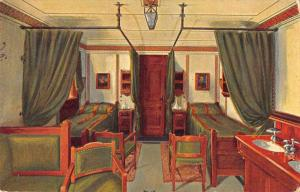 Navigazione Generale Italiana MS Augustus Cabin Antique Postcard J56451