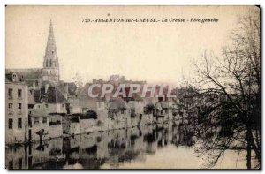 Old Postcard Argenton sur Creuse Creuse Left Bank