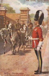 Harry Payne. The Royal Scots Greys , Sentry. Review . Horses Tuck Oilette PC #