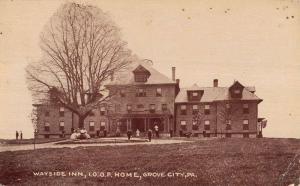 Grove City Pennsylvania Wayside Inn IOOF home Antique Postcard K19314