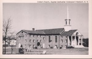 Pittsford NY New York ~ United Church Baptist Methodist Vintage Postcard