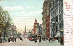 Main St. Looking South, So. Hartford, Connecticut, Early Postcard, Used in 1907