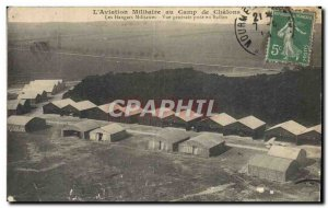 Old Postcard L & # 39Aviation In Military Camp De Chalons Army Military hanga...