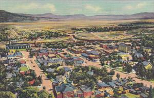 Birds Eye View Of Raton From Goat Hill New Mexico Curteich