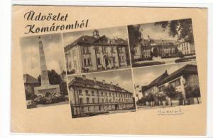 Udvozlet Komarombol Komarom Hungary 1955 postcard