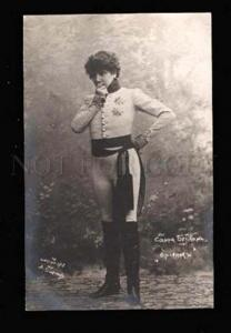 019053 Sarah BERNHARDT Great Drama Actress. OId PC