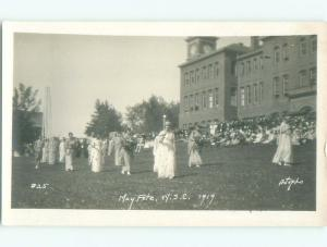 Pre-1930 rppc WSC WASHINGTON STATE COLLEGE MAY FETE Pullman Washington WA i9464