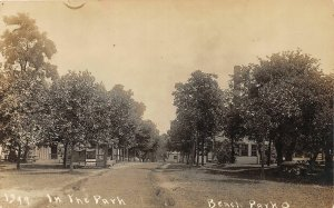 F54/ Beach Park Ohio RPPC Postcard Lorain Co Leiter c1910 Cottages