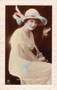 Embossed: Miss Marguerite Clark, Fancy Hat Dress, Clothing, Real Photograph