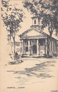 MYSTIC , Connecticut, 1900-10s; Church Building, AS: C.Rechel
