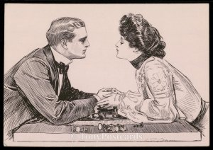 The Greatest Game in the World - His Move - Charles Dana Gibson