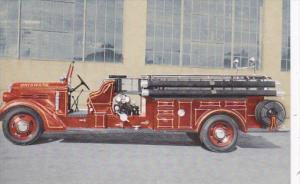 California Brisbane Fire Department 1937 Pumper Truck