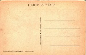 1910s Carte Postale Cambodge Pnom Penh Avec Indochine 6 & 1/2 Centime Tampon Unp