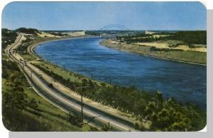 Cape Cod Canal, Mass/MA Postcard, Sagamore Bridge/Highway