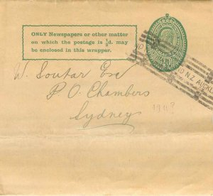 New Zealand Auckland Entier Postal Stationery 1911