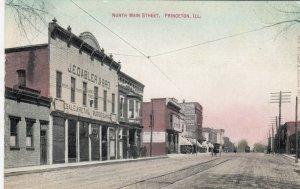 PRINCETON , Illinois , 1900-10s ; North Main Street