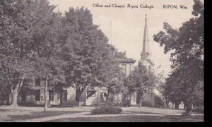 Wisconsin Ripon Office And Chapel Ripon College Albertype