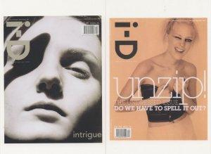 Laura Foster British Model ID Magazine 2x Cover Postcard s
