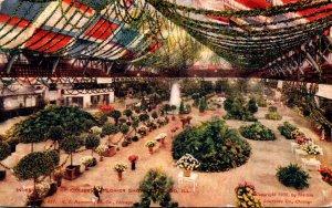 Illinois Chicago Flower Show Interior Of Coliseum