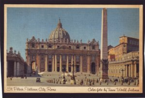 P1362 vintage color photo trans world airlines st peters vatican city rome italy