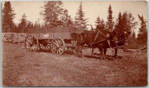 Vintage Photo / Snapshot Postcard Horse-Drawn Wagon Mr. Walter Cox