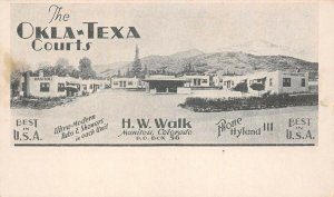 LPS26 Manitou Colorado The Okla-Texa Courts H. W. Walk Postcard