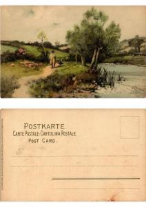 CPA Von Wald und Wiese Meissner & Buch Litho Serie 1230 (730467)