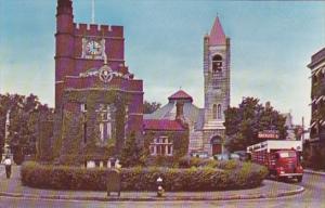 New Hampshire Nashua Public Library 1st Congregational Church & Tavern