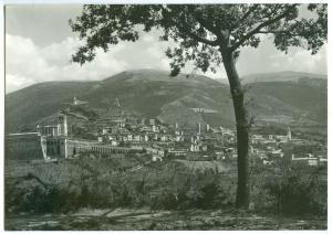 Italy, Italia, ASSISI, Panorama generale, unused real photo Postcard