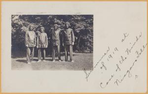 RPPC-Niagara Falls, N.Y., People dressed in Rain Gear, Cave of the Winds-1921