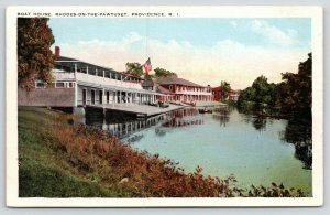Providence Rhode Island~Rhodes-on-the-Pawtucket~Boat House~1920s Postcard