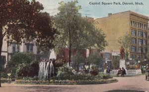 DETROIT, Michigan, PU-1914; Capitol Square Park