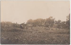 pre1918 WASHTA Iowa Ia Real photo RPPC Postcard CYCLONE Disaster Storm