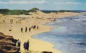 Smooth sand beaches rim the National Park on Prince Edward Island, Canada, 40...