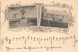 Emmaus Jerusalem Israel~Mission House~Kirche Interior~1903 B&W Art Nouveau~B&W