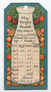 My Weight Record Radene Goldberg Fairview  School Age 8 Grade 3