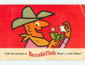 Pre-1980 COMIC COWBOY HITS JACKPOT AT HARRAH'S CASINO Las Vegas Nevada NV v4207