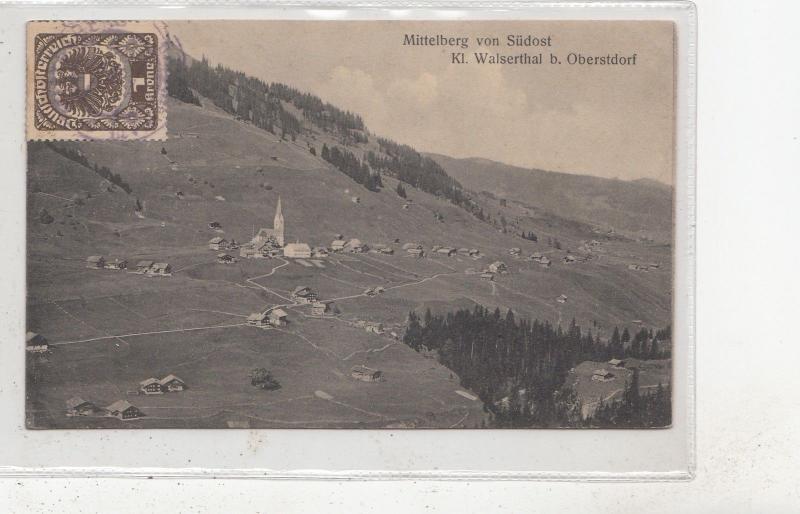 B82098 mittelberg von sudost k l walserthal b obersdorf germany front back image
