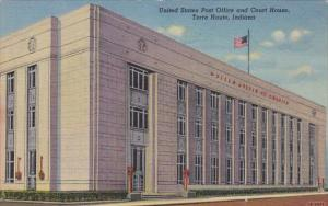 Indiana Terre Haute Post Office and Court House Curteich