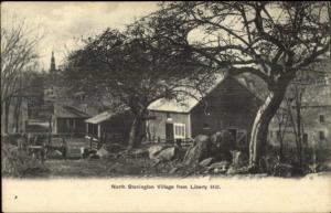 North Stonington Village CT From Liberty Hill c1910 Postcard
