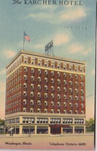 Illinois Waukegan The Karcher Hotel 1942