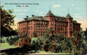Fargo ND~Agricultural College~New Ceres Hall~Shrubs & Trees Turning Brown c1910