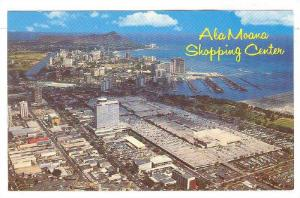 Aerial view of the famous Ala Moana Shopping Center showing the Honolulu Yach...