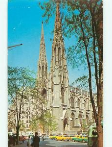 New York City NY St Patricks Cathredral Christian Gothic Style Postcard # 5403