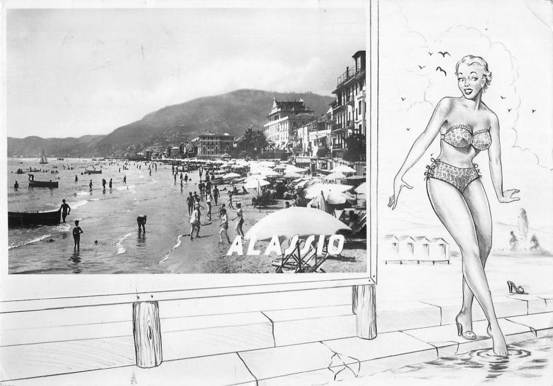 BR102837 alassio real photo postcard italy