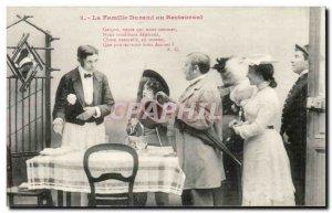 Old Postcard Fantasy humor the Durand family restaurant