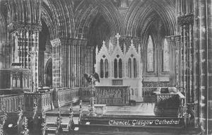 uk953 chancel  glasgow cathedral scotland real photo  uk