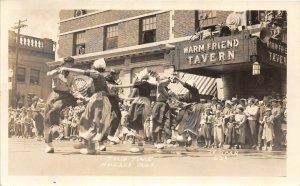 G21/ Holland Michigan RPPC Postcard 1936 Tulip Time Parade Tavern