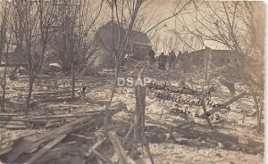 C35/ Interesting Real Photo RPPC Postcard '12 Cyclone? Fire? Disaster Hildebrand